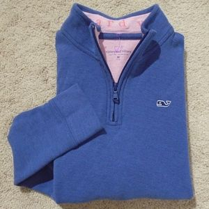 VINEYARD VINES Saltwater Pima Cotton 1/4 Zip M 12+